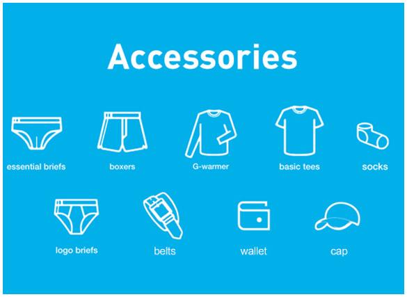 underwear,belt,wallet,bag,socks,brief,boxers,tank,basictee