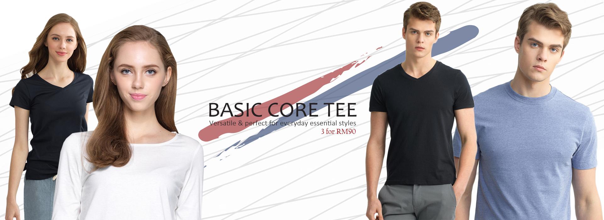 basic core tees