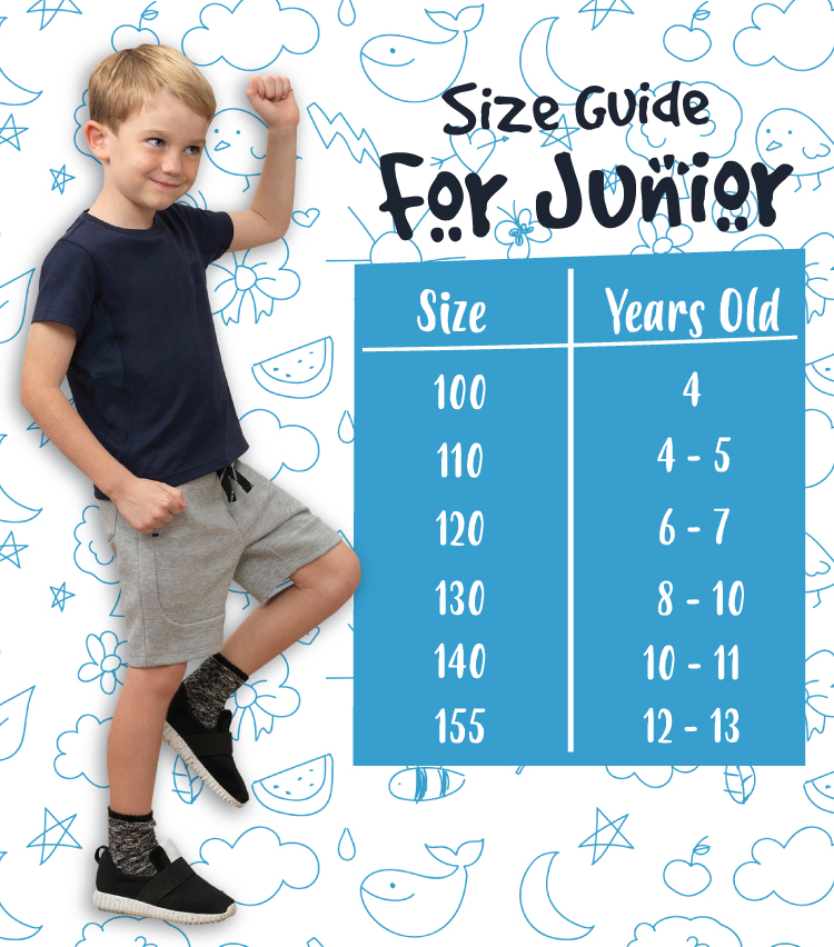 junior size guide
