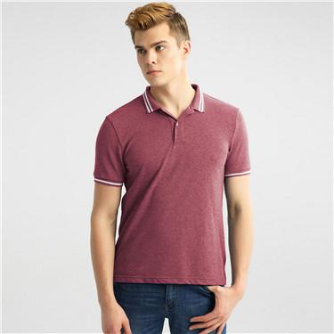 Contrast-trim short sleeve polo