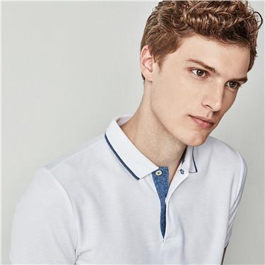 男裝素面POLO衫