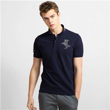 3D Napoleon embroidery polo