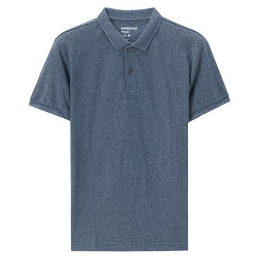 純色珠地布窄身短袖POLO衫