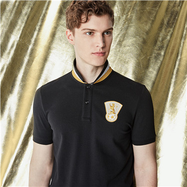 Football series short sleeves polo