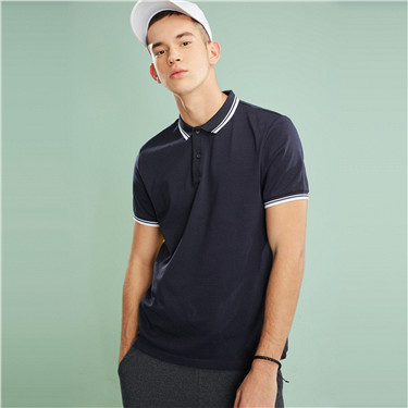 Fast dry short sleeves polo