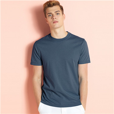 Solid cotton tee