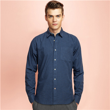 Chambray long sleeves shirt