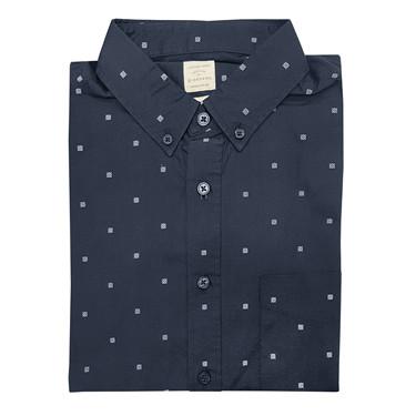 Printed long-sleeve cotton shirt