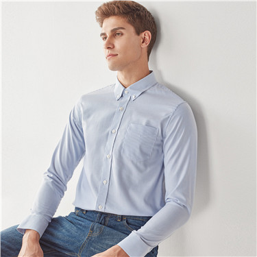 Oxford cotton wrinkle-free shirt