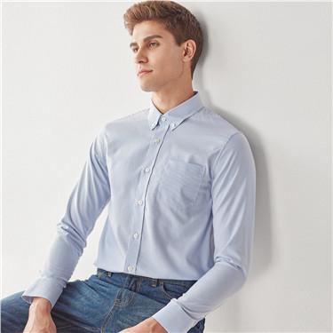 免烫抗菌纯棉牛津纺长袖衬衫