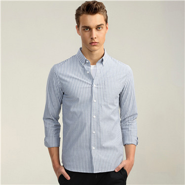 Stretchy oxford cotton shirt