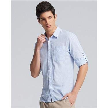 Linen roll sleeve shirt (Men)