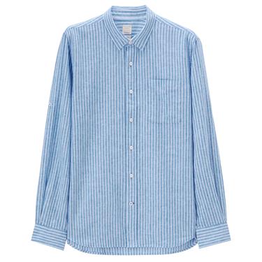 Linen roll sleeve shirt