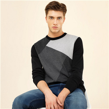 Color blocking pattern sweater