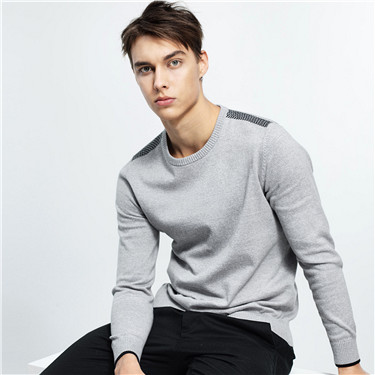 Combed cotton knitted sweater
