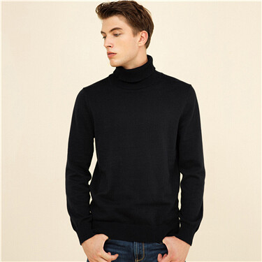 Solid mockneck sweater
