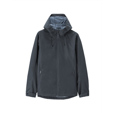 Solid windproof hooded jacket
