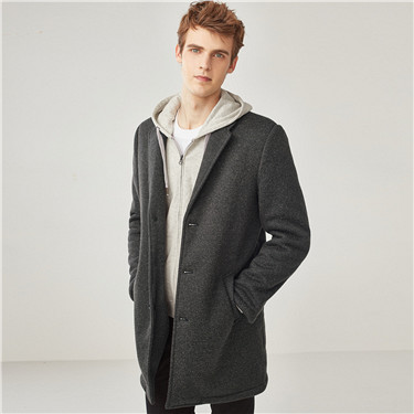 Tailored collar medium coat