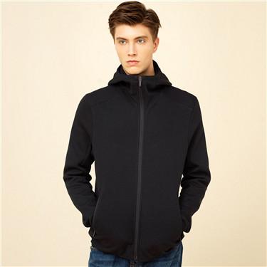 Double-sided hood sweatshirt