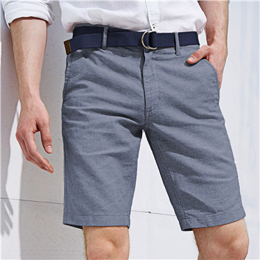 Linen-cotton bermuda (with belt)
