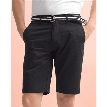 Cotton twill bermuda (with belt)