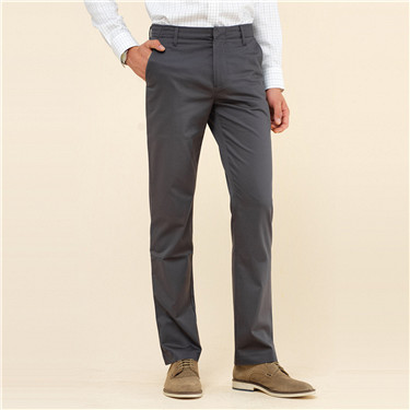 Non-iron slim fit khaki