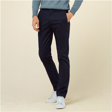 Mid low solid tapered pants