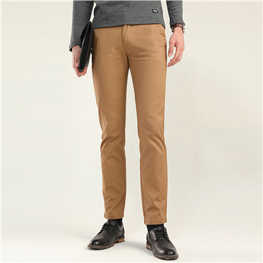 Low rise slim tapered thick khakis