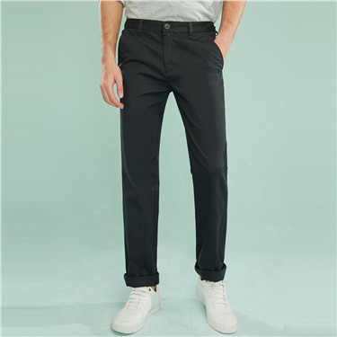 Solid cotton skinny pants