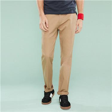 ultra-thin waistband slim tapered khakis