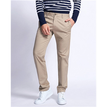 Low rise slim tapered khakis (Men)