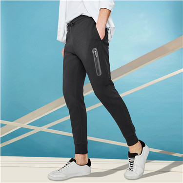 Double knitted zip joggers
