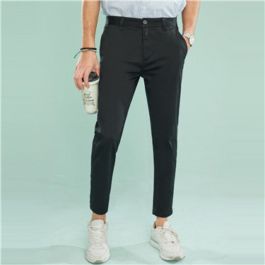 Solid ankle-length pants