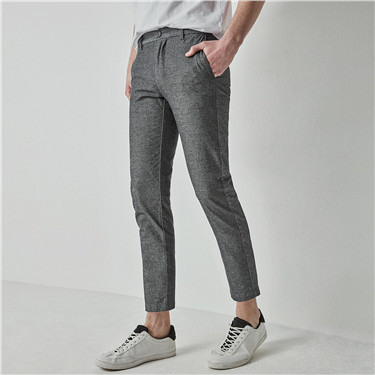 Stretchy slim tapered cropped pants