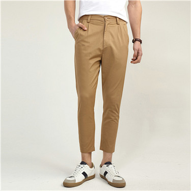 Solid ankle pants