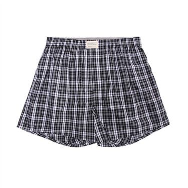 Plaid cotton boxers (1-pack)