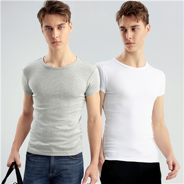 Solid crewneck basic tees (2-packs)