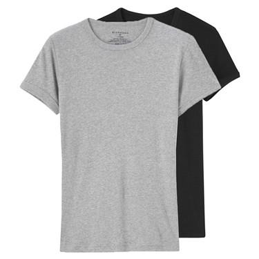 兩件裝純棉圓領打底短袖T恤