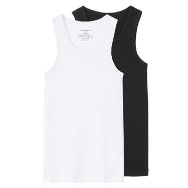 Solid U-neck slim vests (2-packs)