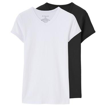 純棉兩件裝V領T恤