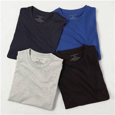 Solid crewneck tee(4-packs)
