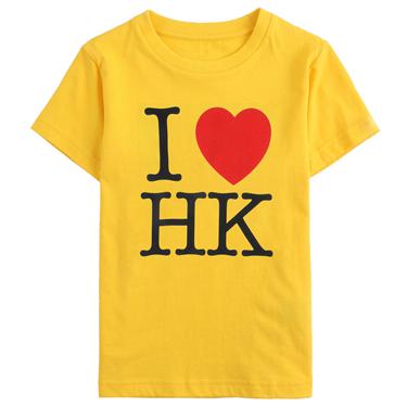 I Love HK系列印花純棉短袖T恤