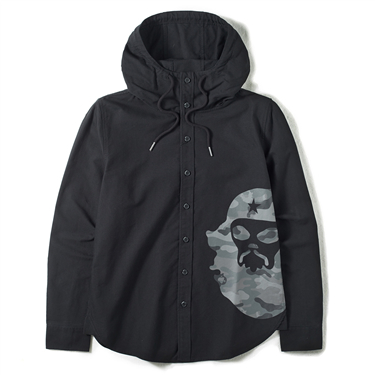 Printed VON hooded shirt