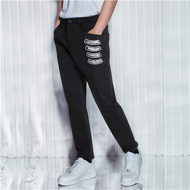 Printed VON mid rise pants