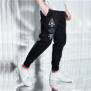 Printed letters casual joggers