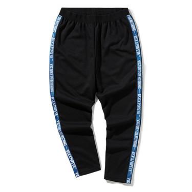 大力水手系列字母织带休闲长裤