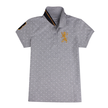 3D Lion embroidery polo