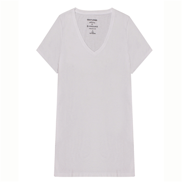 V neck short sleeves tee