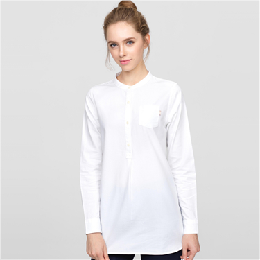 Mid-long oxford blouse