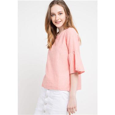 Linen three quarter sleeve shirts
